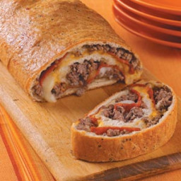 Ground Beef and Pepperoni Stromboli Recipe