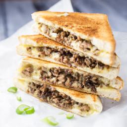 Ground Beef Grilled Cheese Sandwich