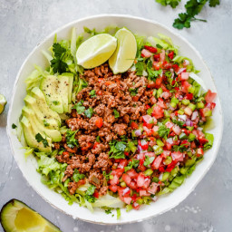 Ground Beef Taco Salad (Low-carb, Whole30, Paleo & Gluten-free)