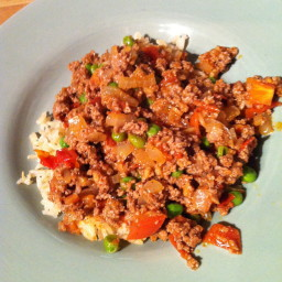 Ground Lamb with Peas
