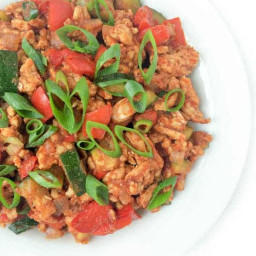 Ground Turkey and Zucchini with Indian Spices