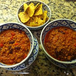 Ground Turkey & Black Bean Chili