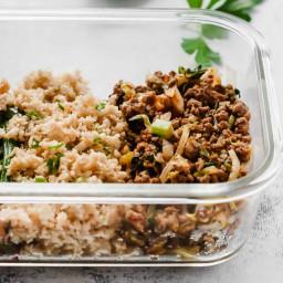 Ground Turkey Rice Veggies Bowls