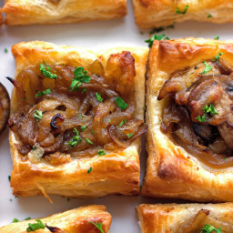 Gruyere, Mushroom, and Caramelized Onion Bites