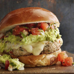 Guacamole Turkey Burgers with Pepperjack Cheese