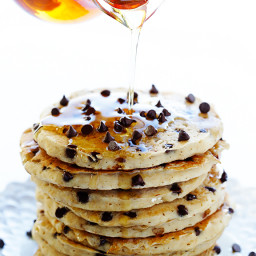 Guiltless Chocolate Chip Pancakes