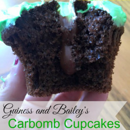 Guiness and Bailey's Carbomb Cupcakes