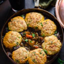 Guinness Beef Stew with Cheddar Herb Dumplings