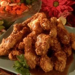Gussie's Fried Chicken with Pecan-Honey Glaze