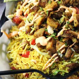Halal Cart's Middle Eastern Chicken and Rice