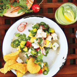 Halibut Ceviche with Tomato and Cucumber