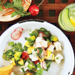 Halibut Ceviche with Tomato and Pineapple