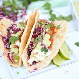 Halibut taco bigoven for Halibut fish tacos