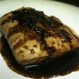 Halibut with Balsamic Glaze