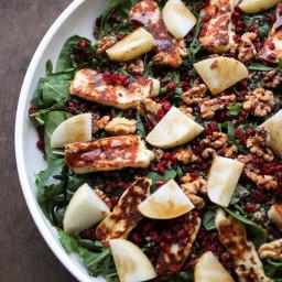 Halloumi, Quinoa and Pomegranate Salad