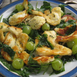 Halloumi and grape salad