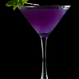 Halloween Cocktail- Purple Martini