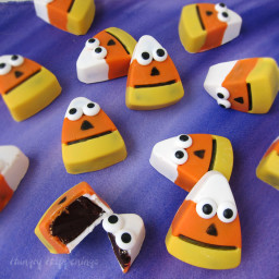 Halloween Treats - Chocolate Candy Corn Truffles