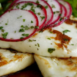 Haloumi and radish salad