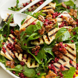 Haloumi, pomegranate and rocket salad