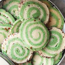 Halva and Pistachio Pinwheel Cookies