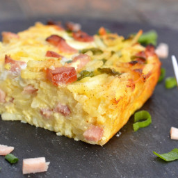 Ham and Cheese Hash Brown Bake (Recipes for Leftover Ham)