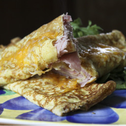 Ham and Cheese Stuffed Crepes
