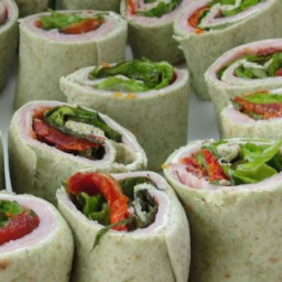Ham and Fresh Basil Pinwheels Recipe