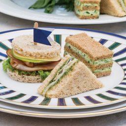 Ham and Green Apple Tea Sandwiches
