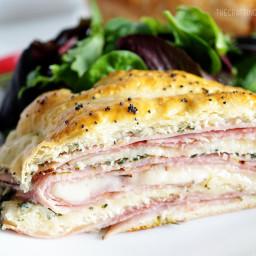 Ham and Spinach Stromboli