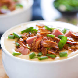 Ham And White Cheddar Beer Cheese Soup