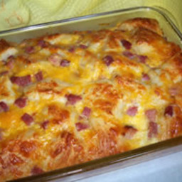 Ham & Biscuit Breakfast Casserole Recipe