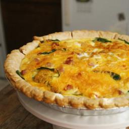 Ham, Cheddar and Spinach Quiche Recipe