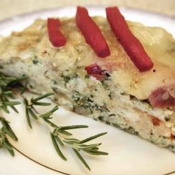 Ham, Gruyere & Spinach Bread Pudding