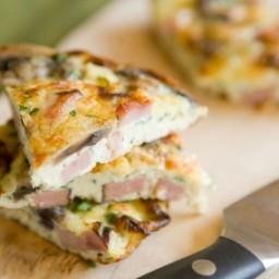 Ham, Mushroom and Fontina Frittata
