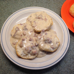 Ham (Sausage) Gravy and Biscuits