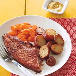 Ham Steak with Chipotle-Mustard Sauce