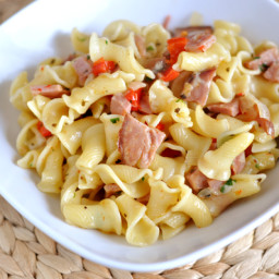 Ham and Pasta Skillet Dinner