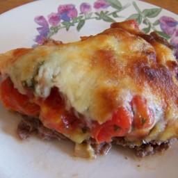 Hamburger Pie with Eggplant