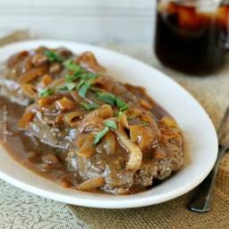 Hamburger Steak with Onions and Brown Gravy Recipe