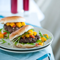 Hamburgers with Homemade Teriyaki Sauce