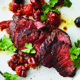 Hanger Steak With Tangy Tomato Relish