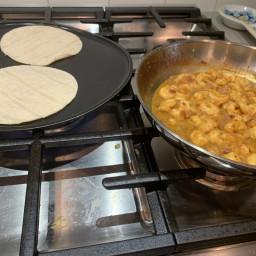 Hanz' Butter Curry Shrimp Tacos
