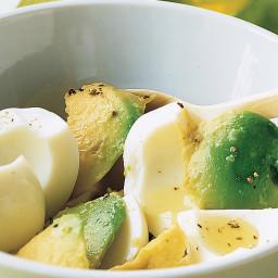 Hard-Boiled Egg Whites with Avocado