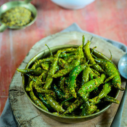 Hari Mirch Ka Achar / Green Chili Pickle