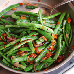Haricots Verts Amandine (French-Style Green Beans With Almonds) Recipe