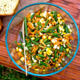 Haricots Verts, Corn and Carrot Salad