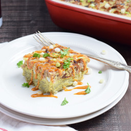 Hashbrown Breakfast Casserole with Sausage & Bacon
