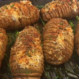 Hasselback Potatoes with Parmigiano-Reggiano