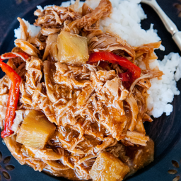 Hawaiian BBQ Bell Pepper Crockpot Chicken